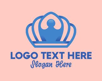 Kids Brand - Elegant Blue Tiara logo design