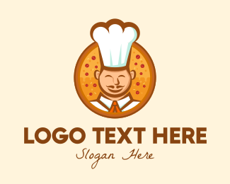 Pepperoni Pizza - Pizza Chef logo design