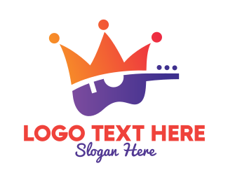 Acoustic - Gradient Guitar King logo design