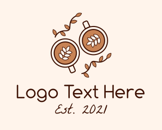 Coffee Date - Organic Coffee Cups logo design