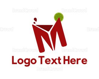 Drink - Drink Letter M logo design