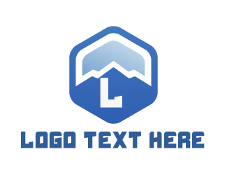 Cooling - Blue Mountain Hexagon logo design
