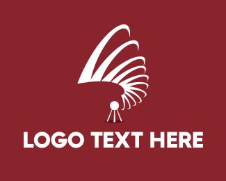News - Abstract Waves logo design