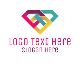 Pride - Colorful Diamond logo design
