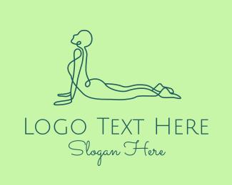 Exercise - Yoga Cobra Pose logo design