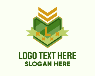Rank - Army Insignia Lettermark logo design