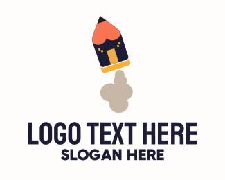 Office Supplies - Pencil Takeoff logo design