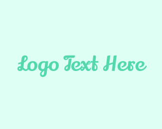 Teal - Pastel Teal Wordmark logo design