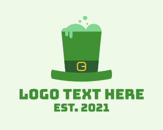 Leprechaun Hat - Leprechaun Top Hat  logo design