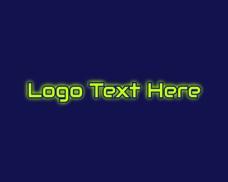 Automotive Glow Text Logo