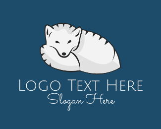 White Dog - Arctic Fox logo design