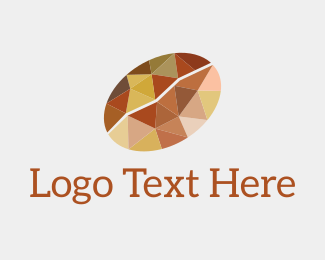 Coffee Bean - Geometric Coffee Bean logo design
