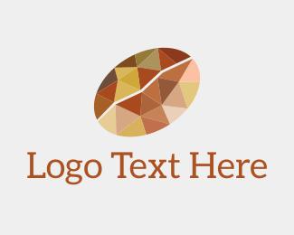 Bean - Geometric Coffee Bean logo design