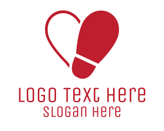 Apparel - Shoe love logo design