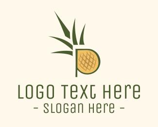 Letter P - Pineapple Letter P logo design