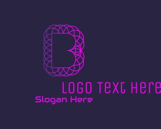 Software Development - Gradient Letter B Geometric logo design