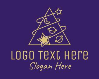 Star - Triangle Planet Stars logo design