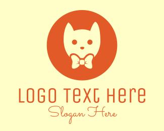 Cat - Orange Kitty Cat logo design