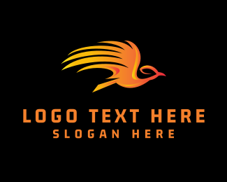 Phoenix - Flying Phoenix logo design