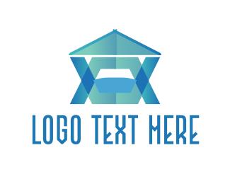 Tank - Blue Modern House    logo design