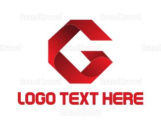 Letter G - Ribbon Letter G logo design
