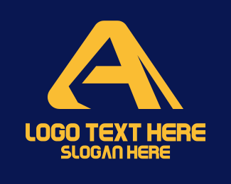Excavation - Digger Excavator Letter A logo design