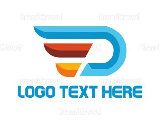 Distribution - Aviation Letter D logo design