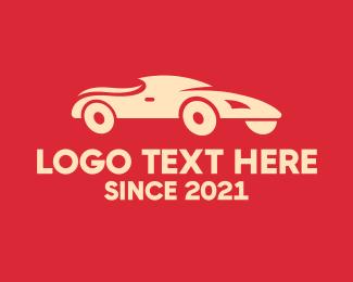 Car Racing - Racing Sports Car logo design
