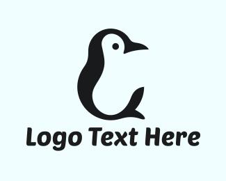 Little - Black Penguin logo design