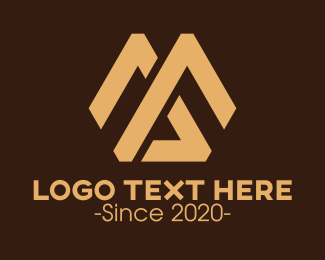 Ma - Mountain Monogram M & A logo design