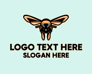 Stinger - Bee Hive Gaming Mascot logo design
