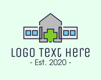 Health Care Worker - Medical Cross Hospital logo design