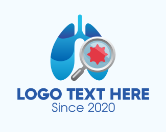 Emphysema - Respiratory Lungs Check Up logo design