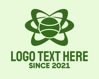 Tennis - Green Tennis Orbit logo design
