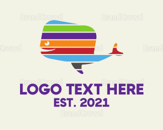 Aquarium - Colorful Whale logo design