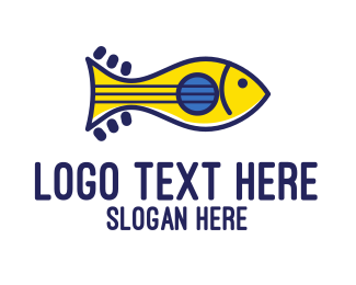 Hispanic - Guitar Fish logo design
