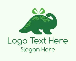 Gift - Dino Present logo design