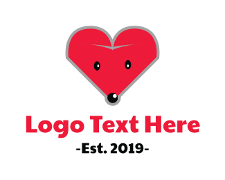 Mouse - Mouse Heart logo design