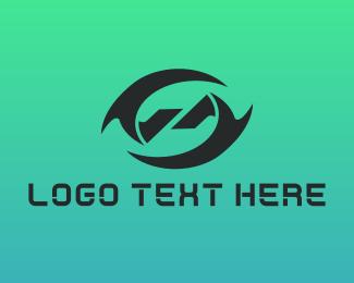 Eye - Double Blade logo design
