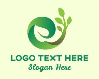 Reborn - Growing Plant Landscape logo design