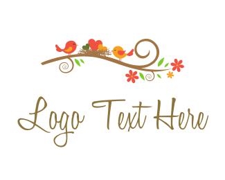 Family - Happy Little Nest logo design
