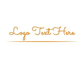 Pastry Chef - Vintage Script logo design