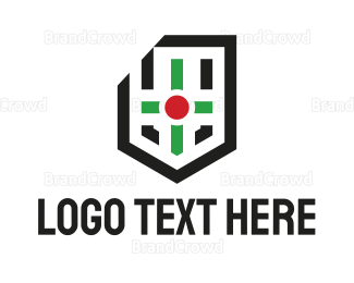 Consulting - Modern Cross Shield logo design