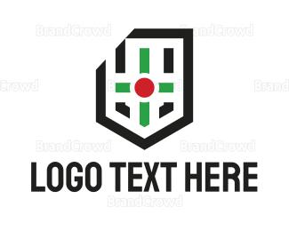 Esports - Modern Cross Shield logo design