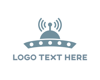 Podcast - UFO Signal logo design
