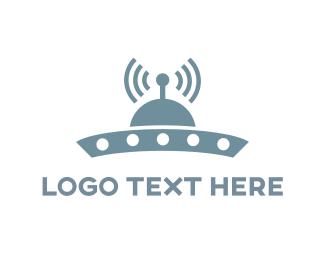 Martian - UFO Signal logo design