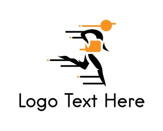 Messenger - Fast Postman logo design
