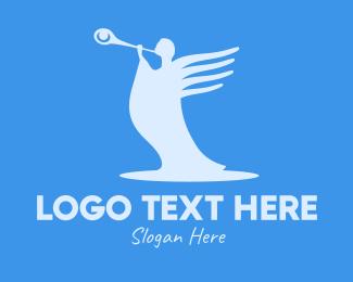 Cherubim - Angel Trumpet logo design