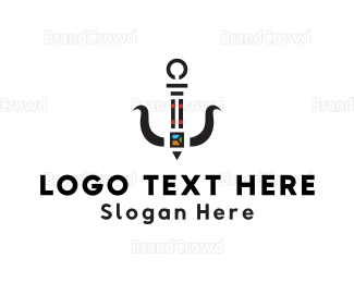Catering - Sushi Anchor logo design