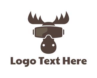 Vr - VR Moose logo design